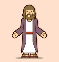 jesus christ smile cartoon graphic vector image
