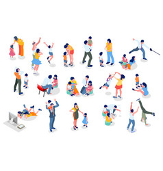 kids minimal people set vector image
