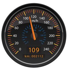 kmh kilometers per hour speedometer odometer vector image