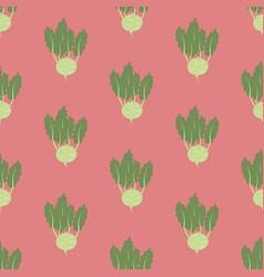Kohlrabi vegetable pattern vector