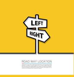Left and right arrow sign vector