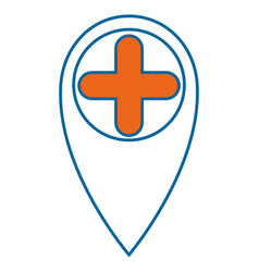 Location pin icon vector