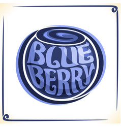 Logo for blueberry vector