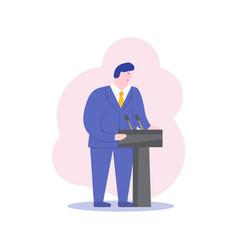 Male politician business ceo speaker cartoon vector
