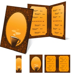 menu and banner for cafe vector image