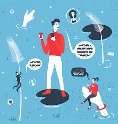 Modern digital society vector