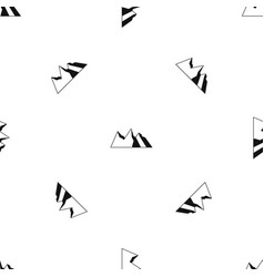 mountains pattern seamless black vector image