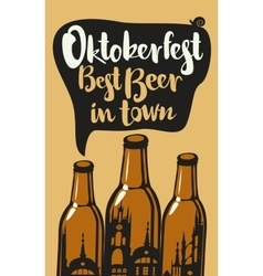 oktoberfest best beer vector image