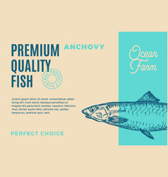 premium quality anchovy abstract fish vector image