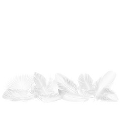 Realistic soft white falling fluffy twirled vector