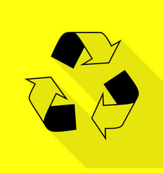 recycle logo concept black icon with flat style vector image