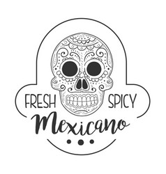 Restaurant fresh and spicy mexican food menu promo vector