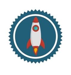 Rocket spaceship icon vector image