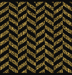 seamless chevron pattern glittering golden vector image