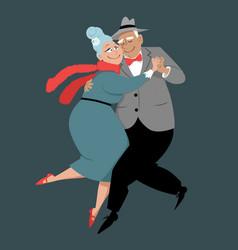 Senior tango vector