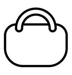 shopping bag line icon handbag vector image