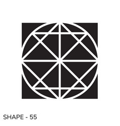 Simple geometric shape vector