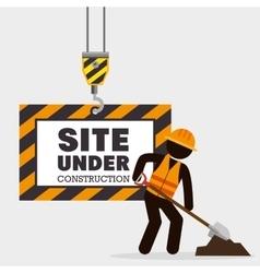 site under construction icon vector image