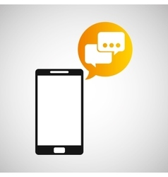 Smartphone and bubble speak application vector