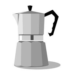 steel coffee pot vector image