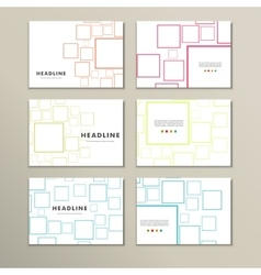template presentation square background vector image