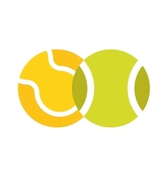 Tennis ball isolated sport equipment game circle vector image vector image