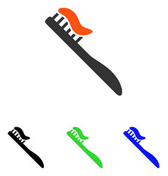 Tooth brush flat icon vector