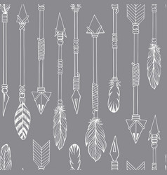 tribal indian seamless set of arrows vector image