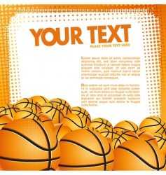 Vector basketball background vector