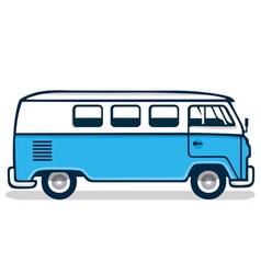 Vintage Blue Van vector