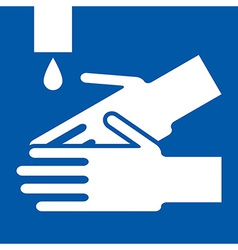 Wash hands sign vector image