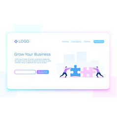 web page business teamwork and partnership vector image
