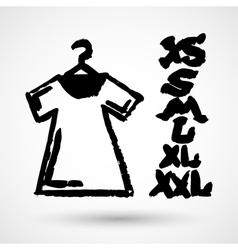White blank tshirt grunge icon symbol vector