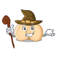 Witch chickpeas mascot cartoon style vector