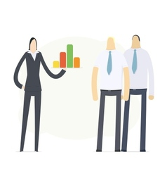 Young business woman making presentation vector