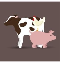 animals farm poster icon vector image