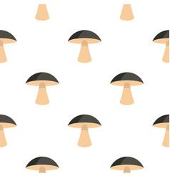 Birch mushroom pattern flat vector