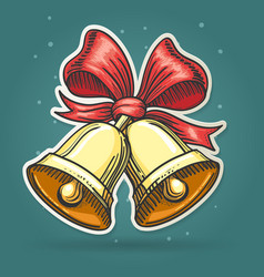 Paper Cut Jingle Bells Emblem vector image vector image