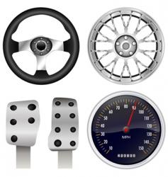 sport car parts vector image