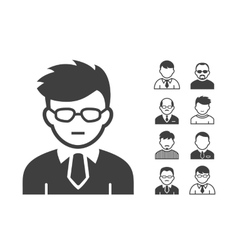 Users icons vector image