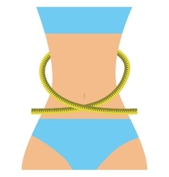 female body fitness icon vector image