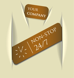 paper message pad vector image
