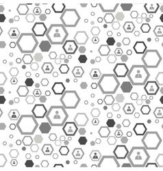 Social media work group concept vector image
