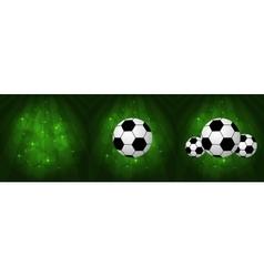 Stylish Soccer Balls vector image