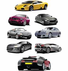 autos vector image