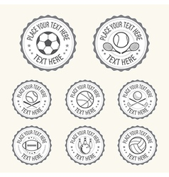Badge Sports badge football golf tennis basketball vector image vector image