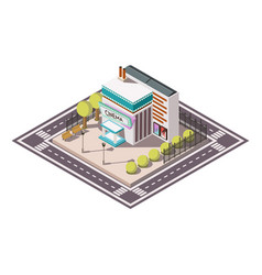 cinema isometric illsutration vector image
