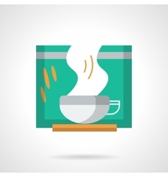 Green tea flat color icon vector image
