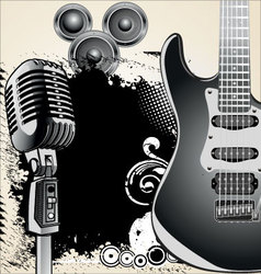 grunge-music-background vector image vector image