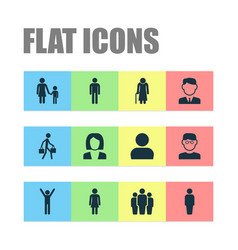 people icons set collection of work man vector image vector image